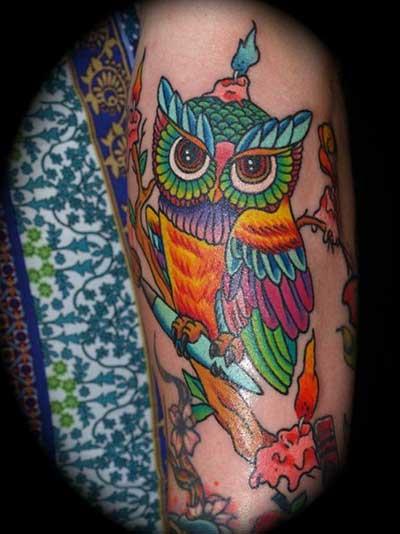 dicas de tatuagens de coruja