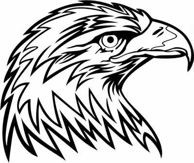 cabeça de águia tribal