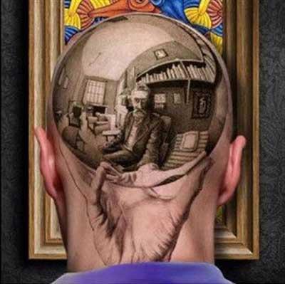 atrás da cabeça