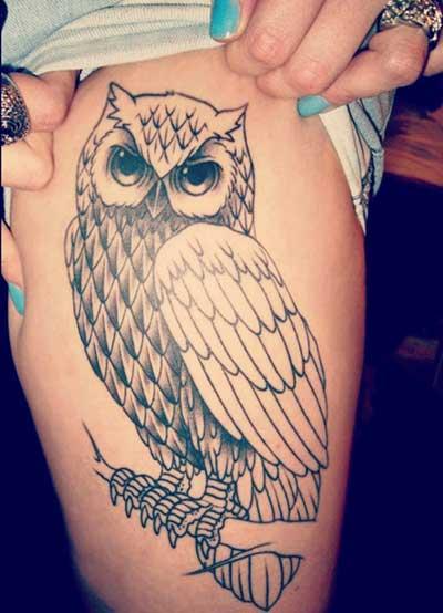 sugestões de tatuagens de coruja