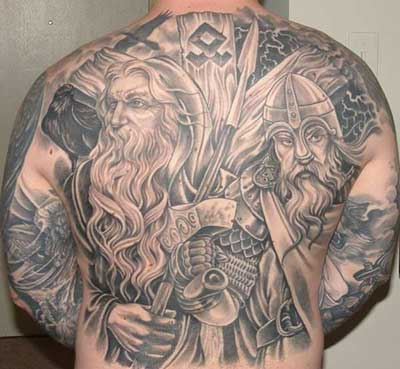 ideias de tatuagens vikings