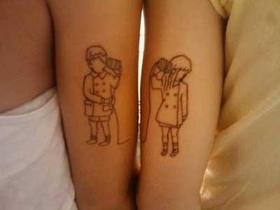 Tatuagens de Casal em Fotos