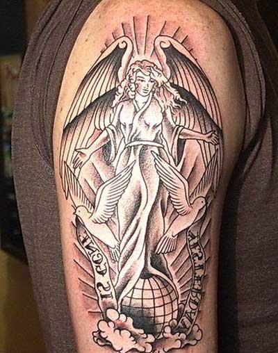 Tatuagens De Anjos Guerreiros Pequenos E Grandes