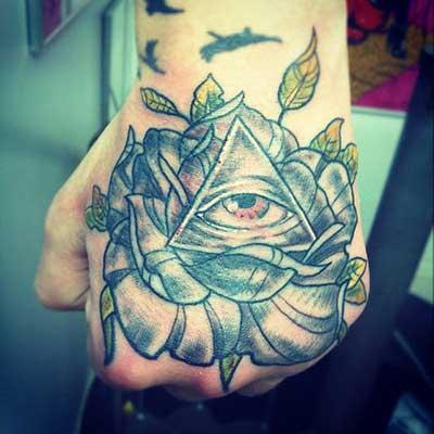 fotos de tatuagens na mão