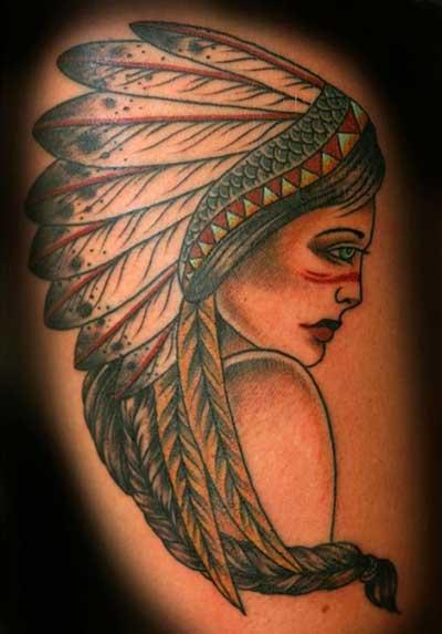 sugestões de tatuagens de índias