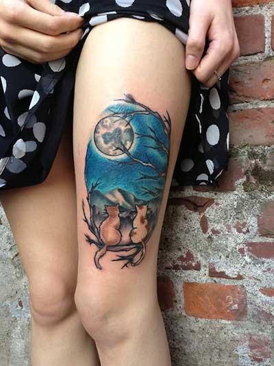 lindos felinos tatuados