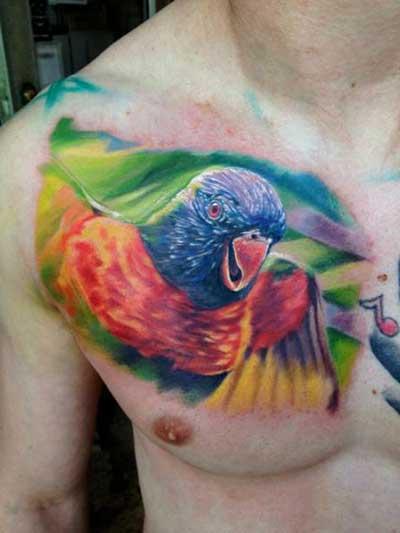 imagem de tattoo de pássaro