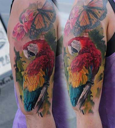 foto de tattoo de pássaro
