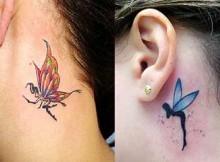 tatuagens atrás da orelha