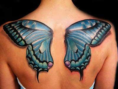 tattoo de asa de borboleta