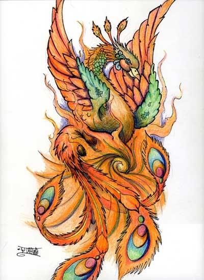 44 Desenhos para Tatuagens de Fênix na Barriga, na Perna