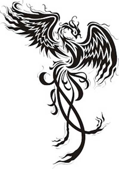 44 desenhos para tatuagens de f nix na barriga na perna for Fenix tribal tattoo