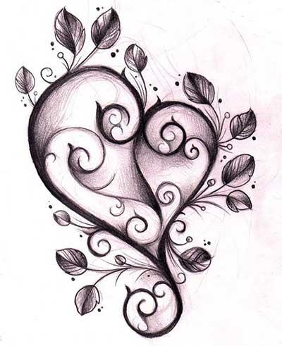 coração para tatuar