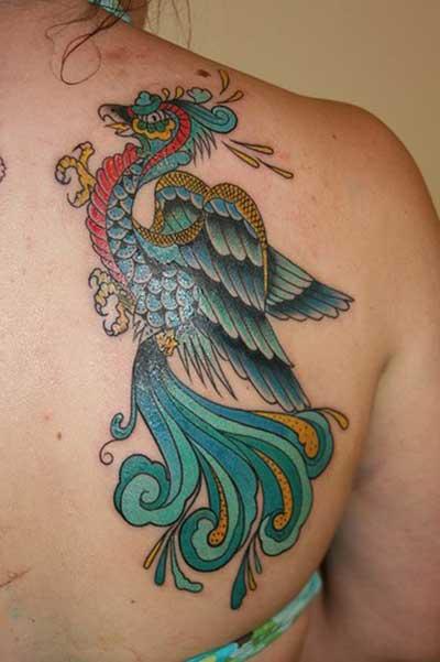 fotos de tatuagens de fênix