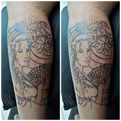 sugestões de tatuagens de gueixas