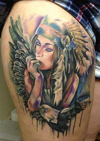 33 Tatuagens De índias E Lobos Significados Fotos Dicas