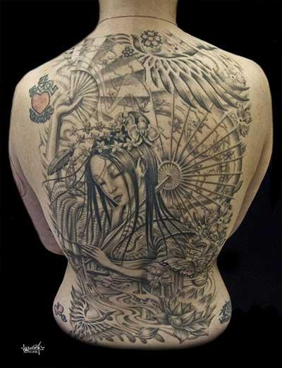 tattoo de gueixa