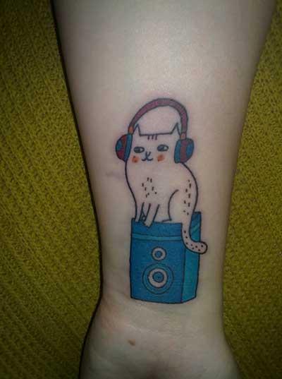 escutando música