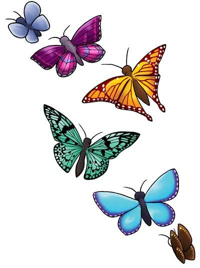 desenhos de tattoos coloridas
