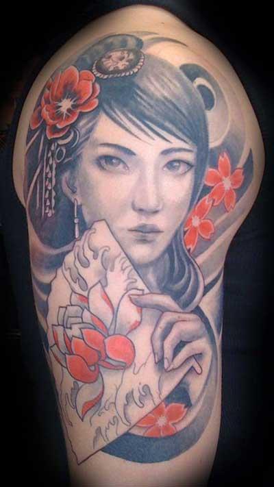 tatuagens de gueixas