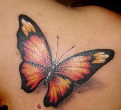 tattoo de borboleta em 3d