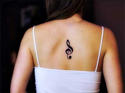 Tatuagens de Notas Musicais