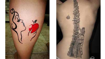 tatuagem de literatura