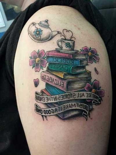foto de tatuagem de literatura