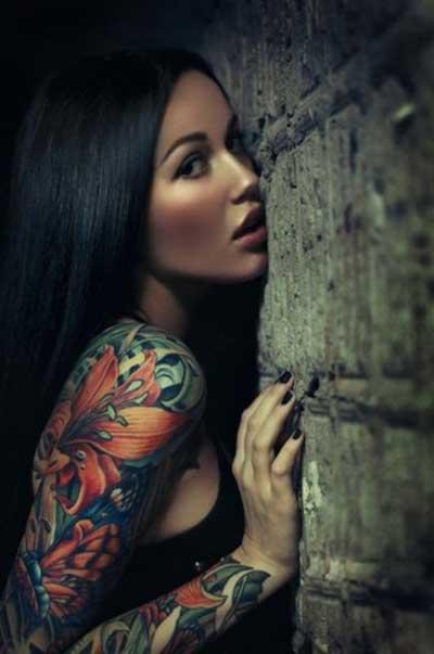 tatuagens de flores femininas