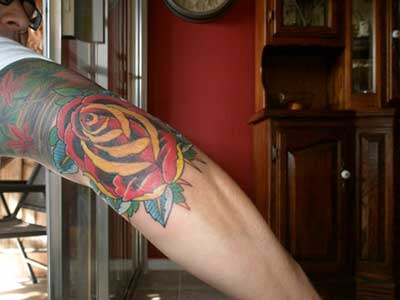 tatuagens de flores masculinas