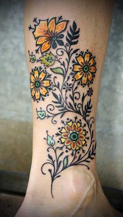 desenhos para tatuagens de flores