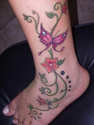 tatuagens de flores da moda