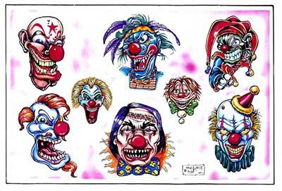 desenhos de tatuagens de palhaços