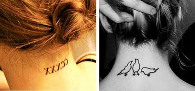 fotos de tatuagens na nuca