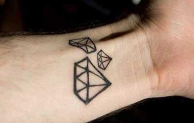 imagens de tatuagens de diamantes