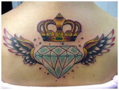 tatuagens de diamantes