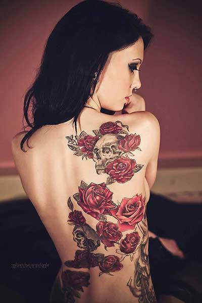 Tatuagens De Rosas Nas Costas Na Coxa Na Perna No Pé