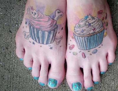 modelos de tatuagens nos pés