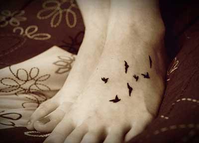 dicas de tatuagens nos pés