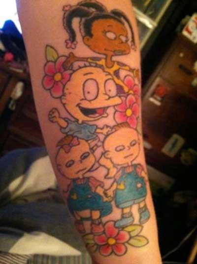 imagens de tatuagens de desenhos animados