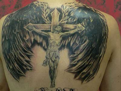 anjo na cruz