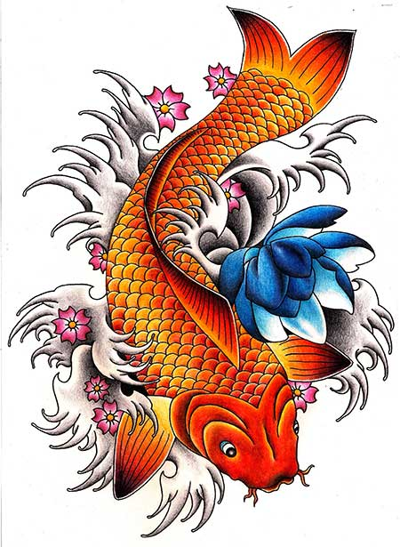 Significado de tatuagem de carpa o que significa for Significado de pez koi