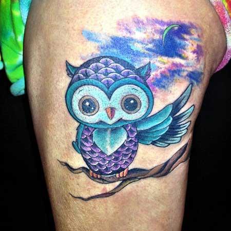 modelos de tatuagens de coruja