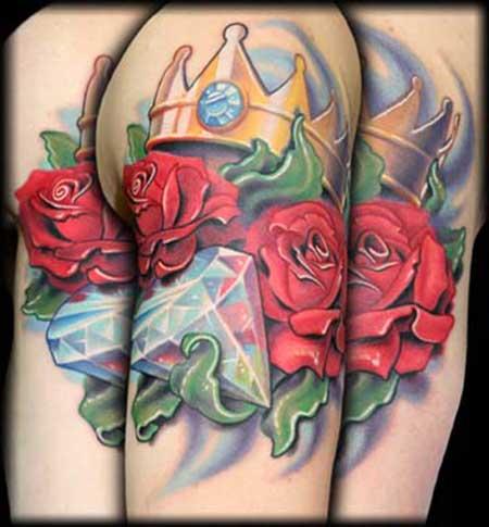 fotos de tatuagem de diamante