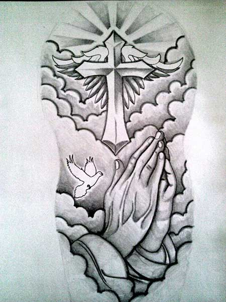 40 fotos de tatuagens religiosas desenhos e significados. Black Bedroom Furniture Sets. Home Design Ideas