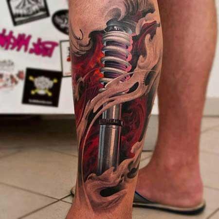 Tatuagens Na Perna mecânico