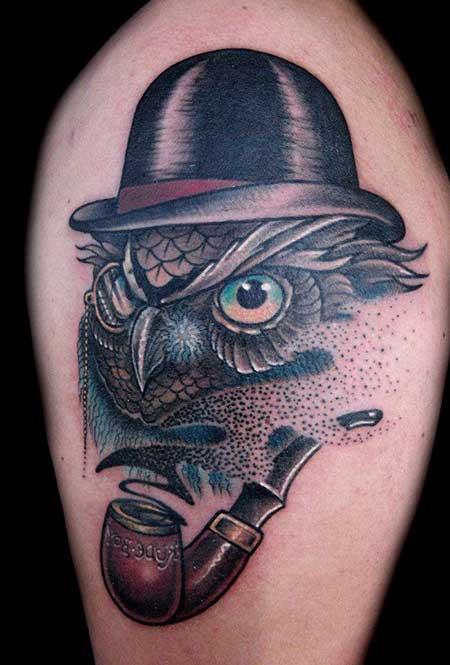 o que significa tatuagens de coruja