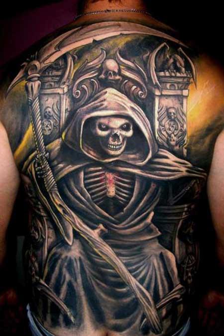 modelos de tatuagens de morte