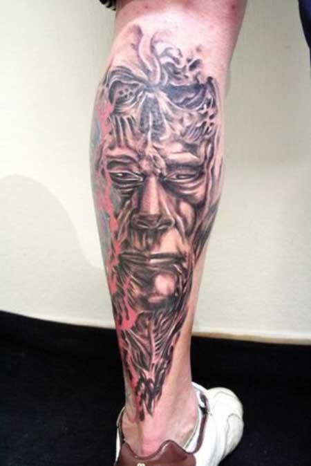 fotos de tatuagens na perna