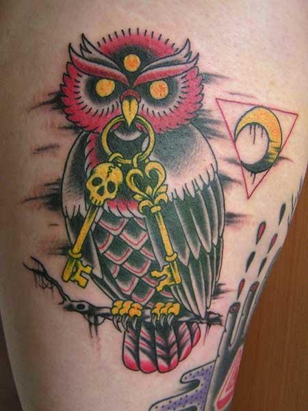 fotos de tatuagens de corujas